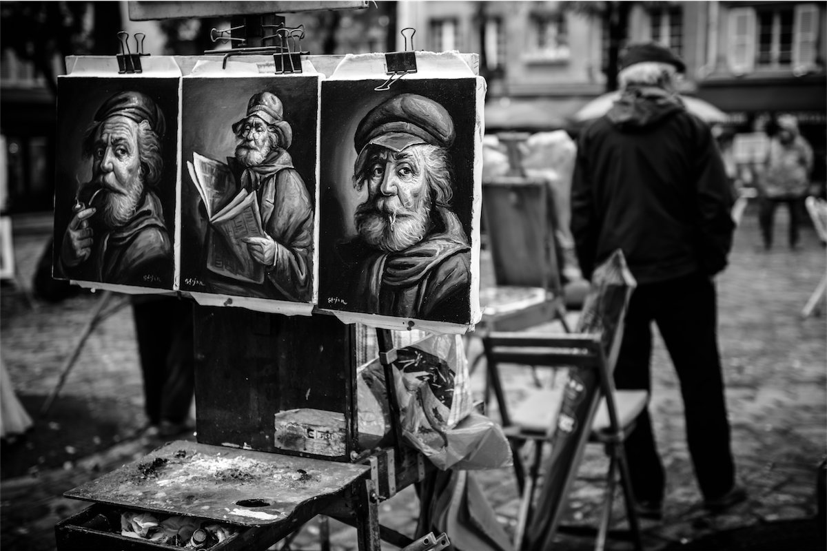 artiste peintre monmartre Photographe grenoble Isere Marie-Cat Photographies