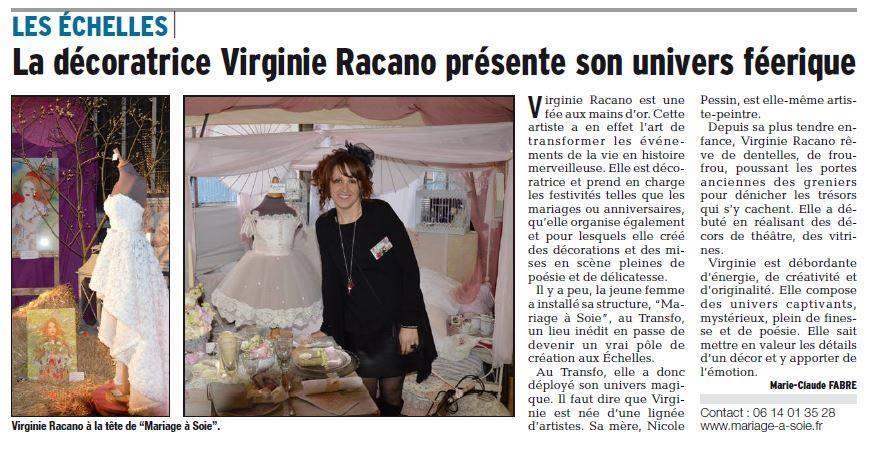 Mariage à Soie Article Dauphiné Libéré